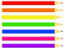 ζωηρόχρωμα μολύβια ελεύθερη απεικόνιση δικαιώματος