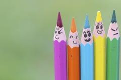 Ζωηρόχρωμα μολύβια Στοκ Εικόνες