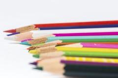 ζωηρόχρωμα μολύβια Στοκ φωτογραφίες με δικαίωμα ελεύθερης χρήσης
