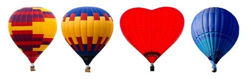 Ζωηρόχρωμα μπαλόνια ζεστού αέρα που απομονώνονται Στοκ Εικόνα