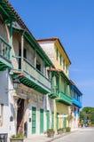 Ζωηρόχρωμα μπαλκόνια, Λα Habana Vieja, Κούβα Στοκ φωτογραφίες με δικαίωμα ελεύθερης χρήσης