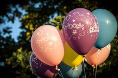 Ζωηρόχρωμα μπαλόνια πριγκηπισσών Στοκ φωτογραφίες με δικαίωμα ελεύθερης χρήσης