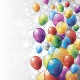 Ζωηρόχρωμα μπαλόνια Στοκ Φωτογραφίες