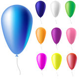 Ζωηρόχρωμα μπαλόνια Απεικόνιση αποθεμάτων