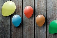 Ζωηρόχρωμα μπαλόνια, Στοκ Εικόνα