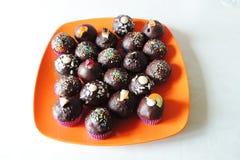 Ζωηρόχρωμα μπισκότα σοκολάτας Στοκ Εικόνες