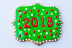 ζωηρόχρωμα μπισκότα Χριστ&omicro Στοκ Φωτογραφία