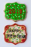 ζωηρόχρωμα μπισκότα Χριστ&omicro Στοκ φωτογραφίες με δικαίωμα ελεύθερης χρήσης
