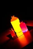 Ζωηρόχρωμα μπουκάλια εργαστηρίων Στοκ Φωτογραφία