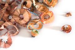 ζωηρόχρωμα ξέσματα μολυβ&iota Στοκ φωτογραφία με δικαίωμα ελεύθερης χρήσης