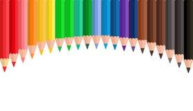 Ζωηρόχρωμα ξύλινα μολύβια Στοκ εικόνα με δικαίωμα ελεύθερης χρήσης