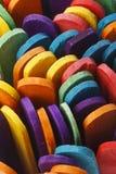 Ζωηρόχρωμα ξύλινα ραβδιά παγωτού Στοκ Εικόνες