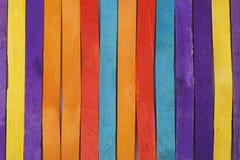 Ζωηρόχρωμα ξύλινα ραβδιά παγωτού Στοκ Φωτογραφίες