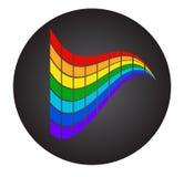 Ζωηρόχρωμα ορθογώνια στο μαύρο κύκλο Περίληψη Στοκ εικόνα με δικαίωμα ελεύθερης χρήσης