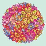 ζωηρόχρωμα λουλούδια απεικόνιση αποθεμάτων