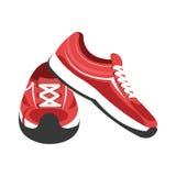 ζωηρόχρωμα πάνινα παπούτσια γυμναστικής, γραφικά Στοκ φωτογραφία με δικαίωμα ελεύθερης χρήσης