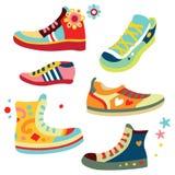 ζωηρόχρωμα πάνινα παπούτσια απεικόνιση αποθεμάτων