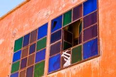 Ζωηρόχρωμα παράθυρα σε Marakesh Στοκ Φωτογραφία