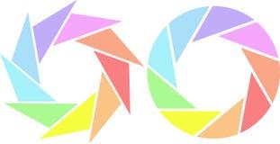 ζωηρόχρωμα παραθυρόφυλλ&a ελεύθερη απεικόνιση δικαιώματος