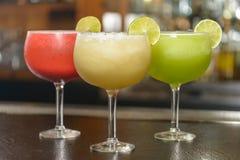 Ζωηρόχρωμα παραδοσιακά μεξικάνικα ποτά Στοκ Φωτογραφία