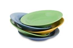 Ζωηρόχρωμα πιάτα γευμάτων Στοκ φωτογραφίες με δικαίωμα ελεύθερης χρήσης