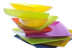 ζωηρόχρωμα πιάτα Στοκ Εικόνα