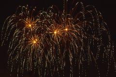 Ζωηρόχρωμα πυροτεχνήματα στο μαύρο υπόβαθρο Στοκ Φωτογραφία