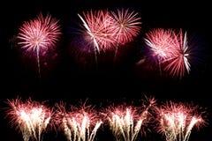 ζωηρόχρωμα πυροτεχνήματα Στοκ φωτογραφίες με δικαίωμα ελεύθερης χρήσης