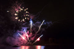 Ζωηρόχρωμα πυροτεχνήματα Στοκ Εικόνα