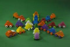 ζωηρόχρωμα πλαστικά παιχνί&del Στοκ φωτογραφίες με δικαίωμα ελεύθερης χρήσης