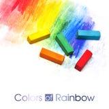 ζωηρόχρωμα ραβδιά κρητιδο ελεύθερη απεικόνιση δικαιώματος