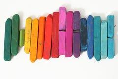 ζωηρόχρωμα ραβδιά κρητιδο Στοκ φωτογραφίες με δικαίωμα ελεύθερης χρήσης