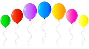 Ζωηρόχρωμα ρεαλιστικά μπαλόνια ηλίου Ιστού που απομονώνονται στο άσπρο υπόβαθρο απεικόνιση αποθεμάτων