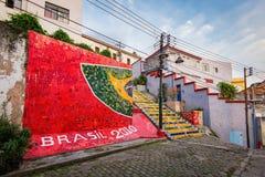 Ζωηρόχρωμα σκαλοπάτια Selaron στο κέντρο Ρίο ντε Τζανέιρο Στοκ Εικόνα