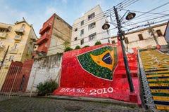 Ζωηρόχρωμα σκαλοπάτια Selaron στο κέντρο Ρίο ντε Τζανέιρο Στοκ εικόνα με δικαίωμα ελεύθερης χρήσης