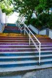 Ζωηρόχρωμα σκαλοπάτια σε Moda, Ιστανμπούλ Στοκ φωτογραφίες με δικαίωμα ελεύθερης χρήσης