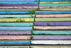 Ζωηρόχρωμα σκαλοπάτια στο πάρκο Khabarovsk Στοκ εικόνα με δικαίωμα ελεύθερης χρήσης