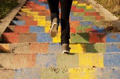 Ζωηρόχρωμα σκαλοπάτια Στοκ Εικόνα
