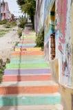 Ζωηρόχρωμα σκαλοπάτια - Valparaiso - Χιλή Στοκ Φωτογραφίες
