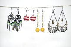ζωηρόχρωμα σκουλαρίκια Στοκ Εικόνα