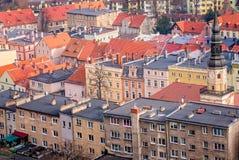Ζωηρόχρωμα σπίτια κατοικιών στην πόλη Bolkow Στοκ Εικόνες