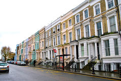 Ζωηρόχρωμα σπίτια Νότινγκ Χιλ, Λονδίνο Στοκ φωτογραφίες με δικαίωμα ελεύθερης χρήσης