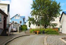 Ζωηρόχρωμα σπίτια, Ρέικιαβικ, Ισλανδία Στοκ εικόνα με δικαίωμα ελεύθερης χρήσης