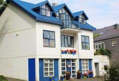 Ζωηρόχρωμα σπίτια, Ρέικιαβικ, Ισλανδία Στοκ Φωτογραφίες