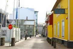 Ζωηρόχρωμα σπίτια, Ρέικιαβικ, Ισλανδία Στοκ φωτογραφία με δικαίωμα ελεύθερης χρήσης