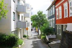 Ζωηρόχρωμα σπίτια, Ρέικιαβικ, Ισλανδία Στοκ Εικόνες
