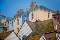 Ζωηρόχρωμα σπίτια σε Hastings Στοκ Εικόνες