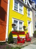Ζωηρόχρωμα σπίτια σε ST-Johns Στοκ Εικόνα