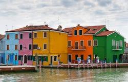 Ζωηρόχρωμα σπίτια στην Ιταλία Στοκ Εικόνες