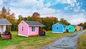 Ζωηρόχρωμα σπίτια της Νέας Αγγλίας Στοκ εικόνες με δικαίωμα ελεύθερης χρήσης